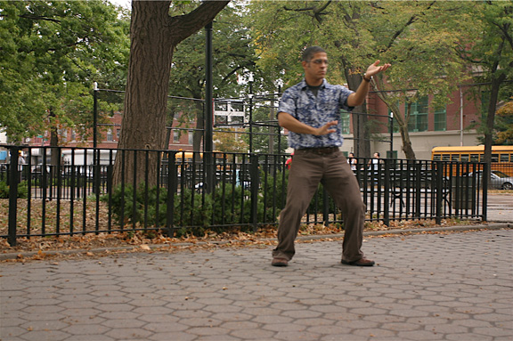Hwa Yu Tai Chi form at Linden Park_Corona, Queens NY